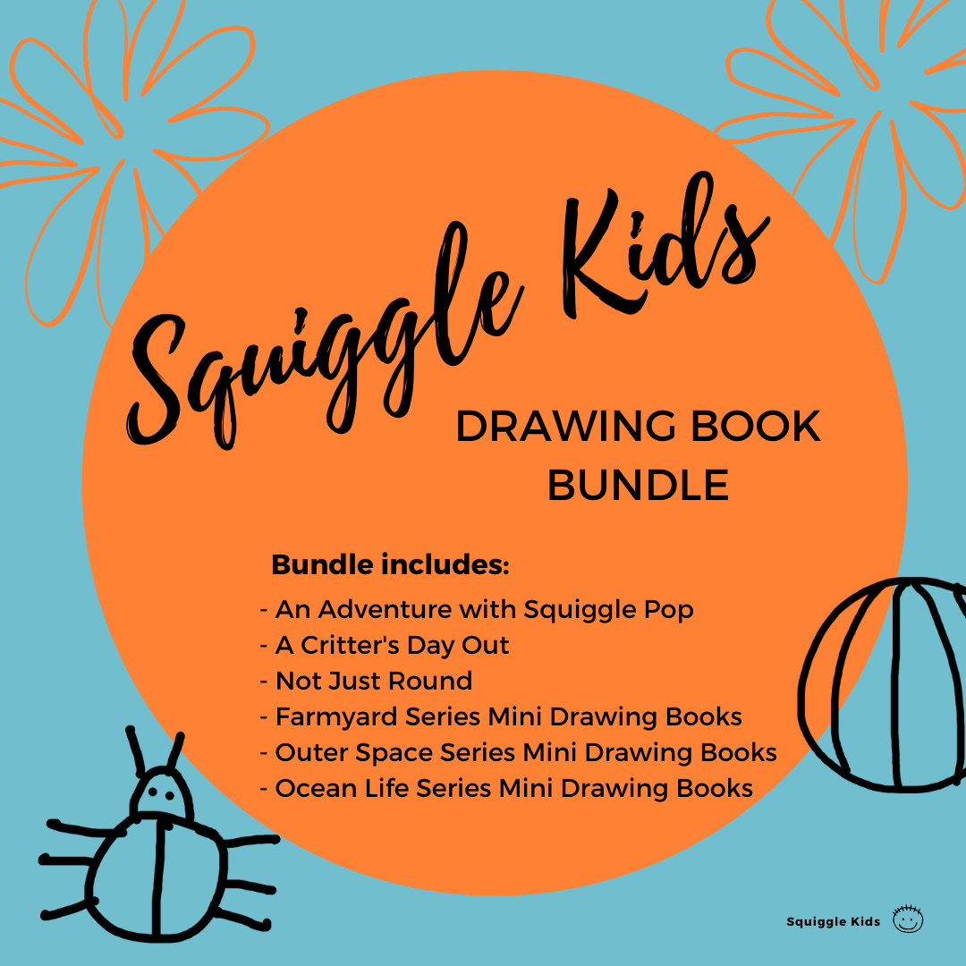 Squiggle Kids Drawing Book Bundle